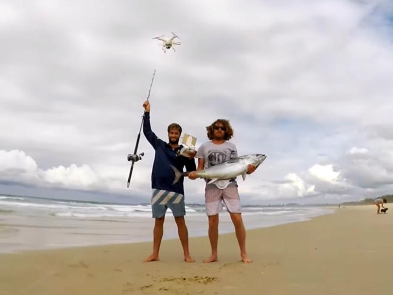 Modifiche effettuate sui droni per facilitare la pesca